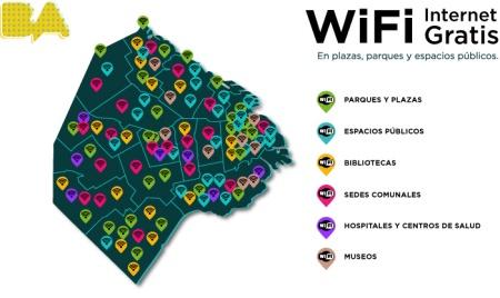 Map of wifi spots! Address on website.